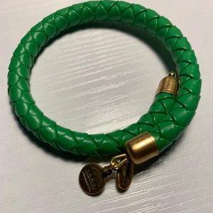 Alex and Ani Wrap Green Braided Bracelet